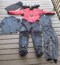 Whites Catalyst Dry Suit Men's Large w/ under garments, boots, & bag  EXCELLENT!