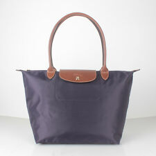 Fashion longchamp Le Pliage Handbag Deep purple Nylon large size L