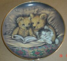 Franklin Mint Collectors Plate BEDTIME STORY Teddy Bear