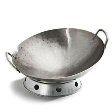 """GrillPro Traditional 14"""" Carbon Steel Deluxe Deep Wok With Wok Support 98020"""