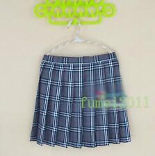 Japanese School Girl Uniform Plaid Pleated Mini Skirt Cheerleader Dress Cosplay