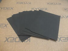 11 PIECES KYDEX T SHEET 297 X 210 X 2MM A4 SIZE BLACK HAIRCELL FINISH
