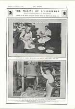 1905 Making Silverware By Hand And Press Sheffield Cyclops Works