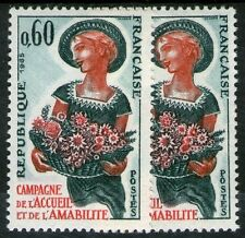 "FRANCE STAMP TIMBRE 1449 "" ACCEUIL AMABILITE FEMME , VARIETE COULEUR "" NEUFxxTTB"