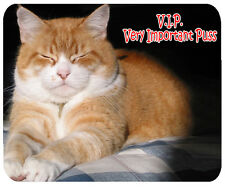 Ginger Cat Mouse Mat - V.I.P. Very Important Puss