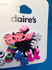 Six Pairs Of Claire's Winter Themed Earrings New