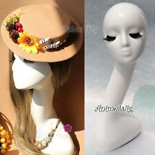 Head Mannequin Display Model With Eyelashes Stand For Wig Hat Jewelry Necklace