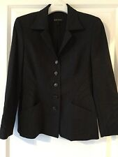Escada Charcoal Gray Wool Shaped Blazer 6