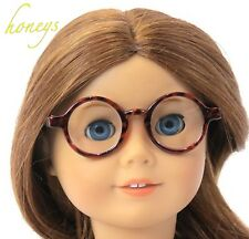 "For 15""-18"" Girl Dolls Accessorie Round Classic Brown TORTOISE SHELL EYE GLASSES"