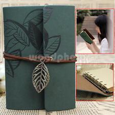 Verde Oscuro Libreta Cuaderno Agenda Hoja Cuero PU para Escribir Diario Viaje