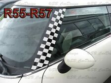 A-Säulen Checkered Flagg Aufkleber Pillar Decal f. BMW MINI COOPER R56 One Works