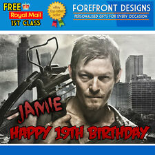 Personalised The Walking Dead Daryl Crossbow Birthday Greeting Card A5