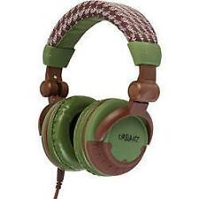 Urbanz DJ Style Stereo Headphones Full Ear + Case Green