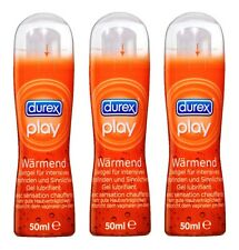 3 X 50ml Durex Play Warming Lubricant Gel Intensive Gel Erotic Sex
