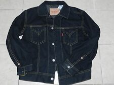 LEVI'S LEVIS LEVI ICONIC BLACK DENIM JEAN JACKET SIZE XL EXTRA LARGE - MINT