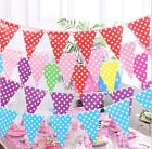 Multi Colour Paper Bunting Banner Flag Garland Wedding Party Birthday Decoration