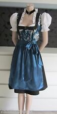 NEW German Austrian style 3pc.Modern Dirndl Dress Blouse Apron  8