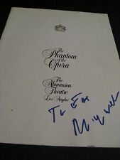 ANDREW LLOYD WEBBER SIGNED AUTOGRAPH PHANTOM OF THE OPERA PROGRAM IN PERSON COA