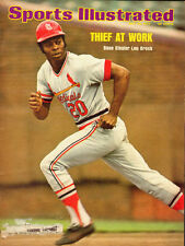 1974 Sports Illustrated Magazine COVER ONLY with Lou Brock/Baseball (041913)