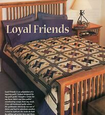 Loyal Friends Quilt Pattern Pieced SD