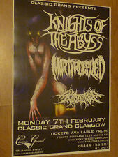 Knights Of The Abyss + Martyr Defiled Glasgow 2011 concert tour gig poster