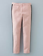 Boden Richmond 7/8 Trousers UK 8 R BNWT Rose Quartz/Black SOLD OUT RARE