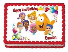 Bubble Guppies edible birthday cake image cake topper decoration