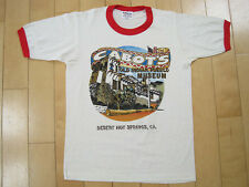 NOS 80s vtg CABOT'S ringer T SHIRT old indian pueblo MUSEUM T SHIRT 50/50 SMALL