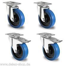 1 Satz Blue Wheels Transportrollen Lenkrollen 125mm 200kg / Rolle Fadenschutz