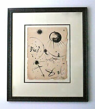 SALVADOR DALI - A 1940s ORIGINAL SURREALIST PAINTING, FRAMED, SPANISH SURREALISM