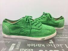 UGG Australia Womens Hally Green Grass Canvas Sneakers Shoes US 10