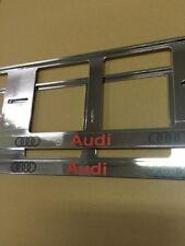 2 portamatriculas AUDI QUATTRO S-LINE A6 Q3 Q5 Q7 TT ALLROAD A4 A3 A8 RS