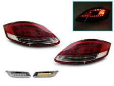 05-08 Porsche Boxster/Cayman 987 LED Red/ClearTail Lights +Amber LED Side Marker