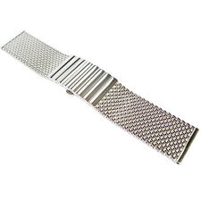 24mm Staib Mesh LONG 170mm Polished Stainless Steel German Watch Band Bracelet