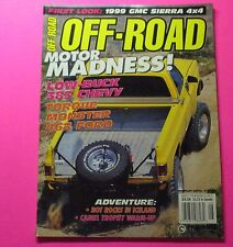 OFF-ROAD MAGAZINE AUG/1998...FIRST LOOK: 1999 GMC SIERRA 4X4...MOTOR MADNESS