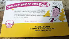 1958  SHELL OIL Co. POSTCARD from Speers Pt Garage NSW  You are one of our VIPs