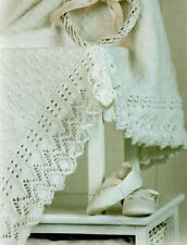 Baby Blanket Lace Border  & Teddy Toy for Boy or Girl  DK ~  Knitting Pattern