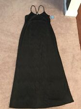 Free People Intimately Black Slip Dress Long Maxi Slit Small S New NWT Auth