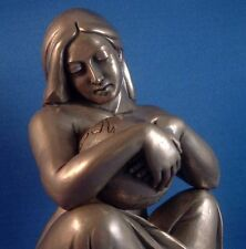 Earth Mother Goddess Gaia Tenderly Caressing Earth Bronze Finish Statue #BZMIA