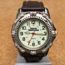 Vintage Sports Illustrated Mens Luminous Analog Quartz Watch Hours~New Battery