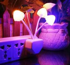 Auto LED Light Induction Night Light Control Sensor Flower Colorful