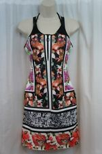 Clover Canyon Swim Cover Up Sz L Multi Color Sleeveless Floral Swimwear Dress