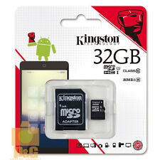 NEW BOX KINGSTON 32GB 32G MICRO SD SDHC CLASS10 FLASH MEMORY CARD // 80mb/s