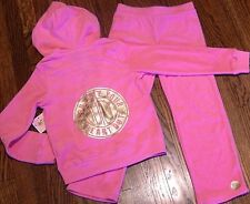 JUICY COUTURE BABY GIRLS BRAND NEW PINK 2Pc SET HOODED SPORT SUIT Sz 6-12M, NWT