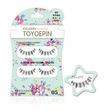 Japanese Dolly Wink Toyepin False Eyelashes Natural Long Handmade 2 Pairs TY05