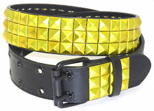 NEW WOMENS PYRAMID STYLE STUDDED QUALITY FAUX LEATHER BELT RED PURPLE YELLOW RED