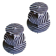 "2 Pack 12"" Cardboard Cupcake Display Holder Stand Black Zebra Print Baby Shower"