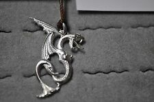 Lady dragon zipper pull or pendant diamond eye motor cycle leather club jacket