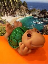 1984 TURTLE TROLL DOLL BANK by Dam Things Denmark Dreamy Eyes Tortoise