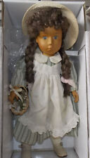 """Vintage Wood 18"""" QVC Camelot Handcrafted Doll Maxie in Original Box"""